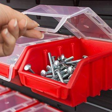 20 tlgs. Wandregal Lagerregal Regal inkl. Stapelboxen Ergobox m. Deckel 3-fabig - 3