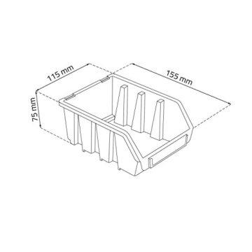 20 tlgs. Wandregal Lagerregal Regal inkl. Stapelboxen Ergobox m. Deckel 3-fabig - 7