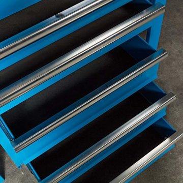 Datona Eckwerkbank mit Werkzeugschrank - Blau - 2