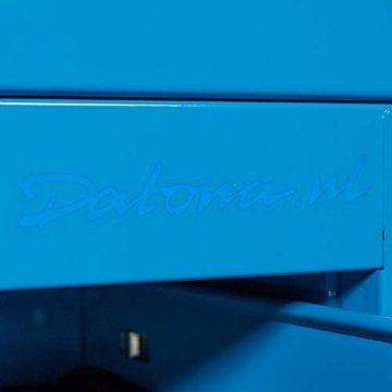 Datona Eckwerkbank mit Werkzeugschrank - Blau - 4