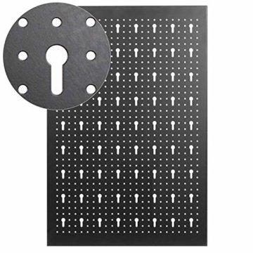 FIXKIT Werkzeuglochwand aus Metall mit 17 teilge Hakenset 120 x 60 x 2 cm, Werkzeugwand Lochwand für Werkstatt, Schwarz und Rot - 4