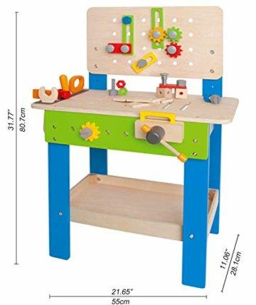 Hape E3000 - Meister-Werkbank, multifunktionale Spiel-Werkbank für kleine Erfinder, aus Holz - 7