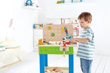 Hape E3000 - Meister-Werkbank, multifunktionale Spiel-Werkbank für kleine Erfinder, aus Holz - 9