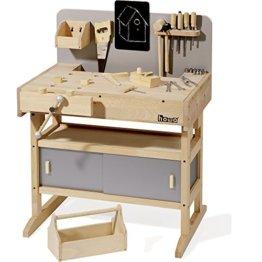 Howa Massive Werkbank Hartholz incl. Werkzeugkiste und 32 TLG. Werkzeug 4900 - 1