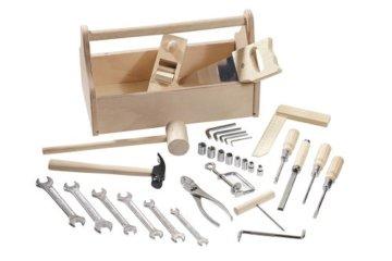 Howa Massive Werkbank Hartholz incl. Werkzeugkiste und 32 TLG. Werkzeug 4900 - 2