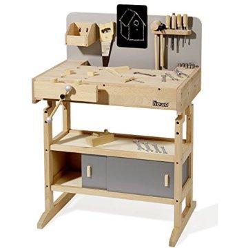 Howa Massive Werkbank Hartholz incl. Werkzeugkiste und 32 TLG. Werkzeug 4900 - 4