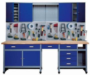 Küpper 70412–7 Set für Werkstatt, 240cm, hergestellt in Deutschland, Farbe: ultramarin -