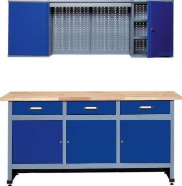 Küpper 70421–7 Werkstattmöbel-Set 170cm, in Deutschland hergestellt, Farbe: ultramarin -