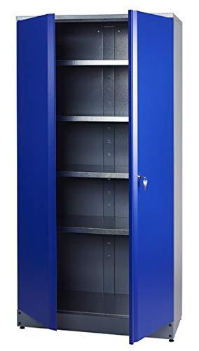 Küpper Hochschrank Modell 70287, 204 x 53 x 91 cm Farbe ultramarinblau -
