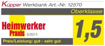 Küpper Werkbank 12577, made in Germany, 170 x 60 x 84 cm - 2