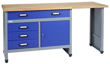 Küpper Werkbank Modell 12037, Breite 170 cm Farbe ultramarinblau - 1