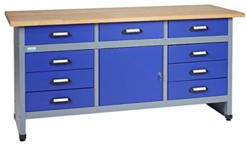 Küpper Werkbank Modell 12877, Breite 170 cm Farbe ultramarinblau - 1