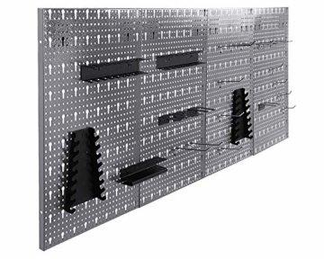 Ondis24 große Werkzeugwand Metall Lochwand mit 50 Haken, 162 x 57 cm groß, Lochwand für Werkstatt (Variante 2) - 3