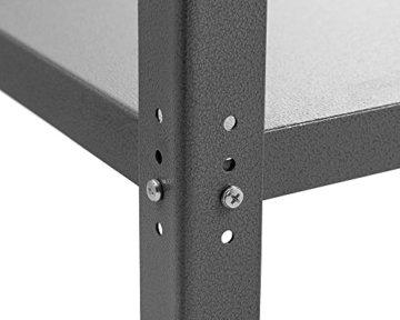 Ondis24 Werkbank 120 cm Nobbi Packtisch TÜV geprüft, Werkstatteinrichtung Werkstatt Werktisch Packtisch Basic mit höhenverstellbaren Füßen - 2