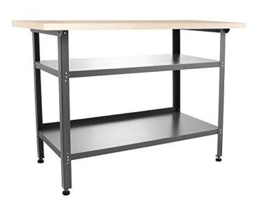 Ondis24 Werkbank 120 cm Nobbi Packtisch TÜV geprüft, Werkstatteinrichtung Werkstatt Werktisch Packtisch Basic mit höhenverstellbaren Füßen - 4
