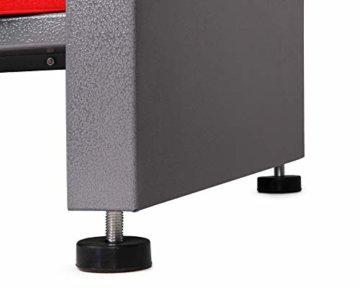 Ondis24 Werkbank rot Werktisch Packtisch 6 Schubladen Werkstatteinrichtung 160 x 60 cm Arbeitshöhe 85 cm - 8