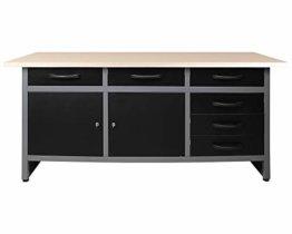 Ondis24 Werkbank Werktisch Packtisch 6 Schubladen Werkstatteinrichtung 160 x 60 cm Arbeitshöhe 85 cm - 1