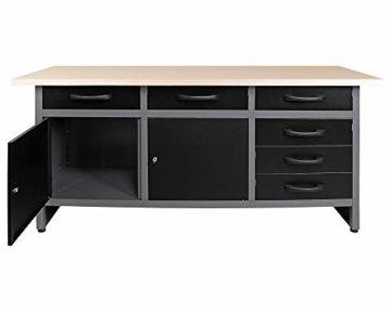 Ondis24 Werkbank Werktisch Packtisch 6 Schubladen Werkstatteinrichtung 160 x 60 cm Arbeitshöhe 85 cm - 4
