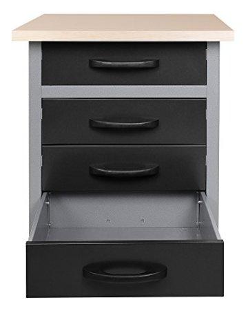 Ondis24 Werkbank Werktisch TÜV geprüft mit 4 Schubladen 60 x 60 cm Arbeitshöhe (85 cm) - 2