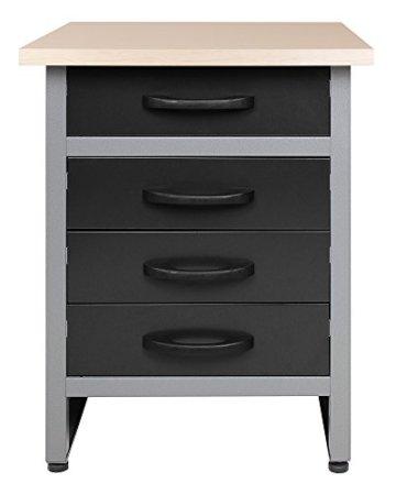 Ondis24 Werkbank Werktisch TÜV geprüft mit 4 Schubladen 60 x 60 cm Arbeitshöhe (85 cm) - 1