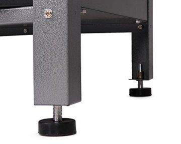 Ondis24 Werkstatt Ecklösung Basic One, 160 cm breit, 2x Werkbank, 1x Werkzeugschrank, Metall, abschließbar, 3x Werkzeugwand - Lochwand, 1x Haken Set (Arbeitshöhe 85 cm, schwarz) - 5