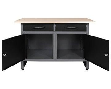 Ondis24 Werkstatt Set Ecklösung Basic One, Werkbank, Werkzeugschrank, Werkzeugwand Lochwand, Haken Set, Metall Bank (Arbeitshöhe 85 cm, anthrazit) - 3