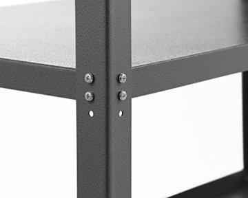 Ondis24 Werkstatt Set Ecklösung Basic One, Werkbank, Werkzeugschrank, Werkzeugwand Lochwand, Haken Set, Metall Bank (Arbeitshöhe 85 cm, anthrazit) - 4