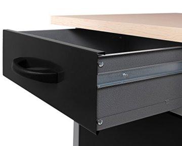 Ondis24 Werkstatt Set Ecklösung Basic One, Werkbank, Werkzeugschrank, Werkzeugwand Lochwand, Haken Set, Metall Bank (Arbeitshöhe 85 cm, anthrazit) - 5
