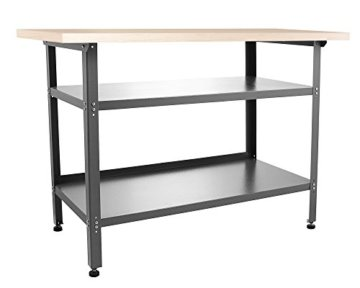Ondis24 Werkstatt Set Ecklösung Basic One, Werkbank, Werkzeugschrank, Werkzeugwand Lochwand, Haken Set, Metall Bank (Arbeitshöhe 85 cm, anthrazit) - 6