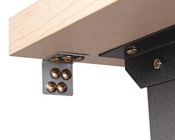Ondis24 Werkstatt Set Ecklösung Basic One, Werkbank, Werkzeugschrank, Werkzeugwand Lochwand, Haken Set, Metall Bank (Arbeitshöhe 85 cm, anthrazit) - 7