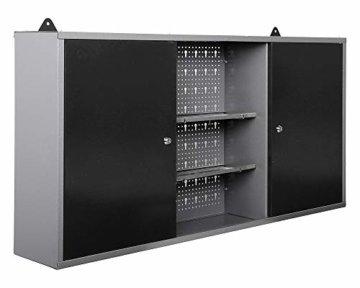 Ondis24 Werkstatt Set Ecklösung Basic One, Werkbank, Werkzeugschrank, Werkzeugwand Lochwand, Haken Set, Metall Bank (Arbeitshöhe 85 cm, anthrazit) - 9
