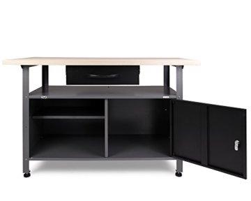 Ondis24 Werkstatt Set Ecklösung Classic One, Werkbank, Werkzeugschrank, Werkzeugwand Lochwand, Haken Set, Metall (Arbeitshöhe 85 cm, anthrazit) - 2