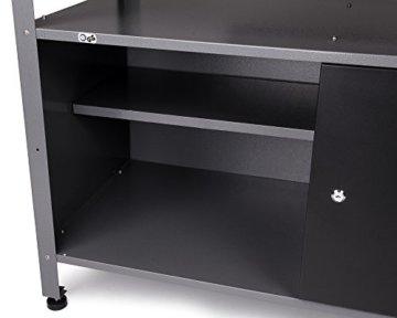 Ondis24 Werkstatt Set Ecklösung Classic One, Werkbank, Werkzeugschrank, Werkzeugwand Lochwand, Haken Set, Metall (Arbeitshöhe 85 cm, anthrazit) - 3