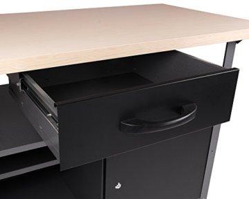 Ondis24 Werkstatt Set Ecklösung Classic One, Werkbank, Werkzeugschrank, Werkzeugwand Lochwand, Haken Set, Metall (Arbeitshöhe 85 cm, anthrazit) - 6