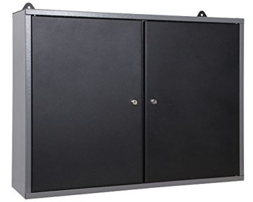 Ondis24 Werkstatt Set Klaus 240 cm 3 Schränke LED (Arbeitshöhe 85 cm, Schwarz) - 4