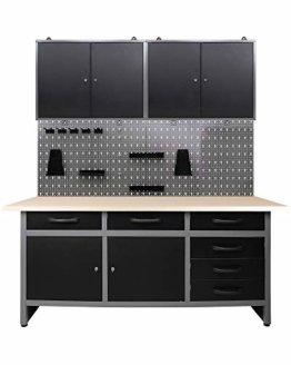 Ondis24 Werkstatteinrichtung 160 cm breit, Werkbank, Werkzeugschrank, Werkzeugwand - 1