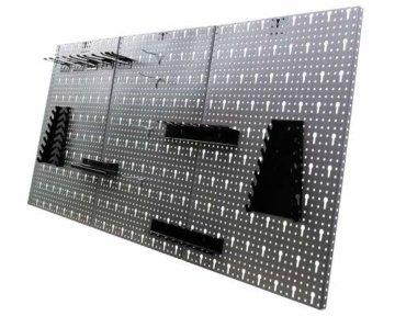 Ondis24 Werkstatteinrichtung Klaus, Metall, TÜV geprüft, 1 Werkstattschrank, Lochwand, Hakensortiment (Arbeitshöhe 85 cm, Schwarz) - 2