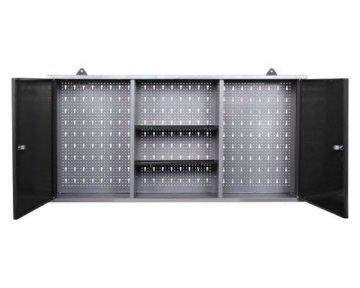 Ondis24 Werkstatteinrichtung Klaus, Metall, TÜV geprüft, 1 Werkstattschrank, Lochwand, Hakensortiment (Arbeitshöhe 85 cm, Schwarz) - 7