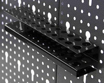 Ondis24 Werkzeugwand 121,5 x 60 cm mit 22-teiligem Hakensortiment Lochwand Werkstatt aus Metall - 6
