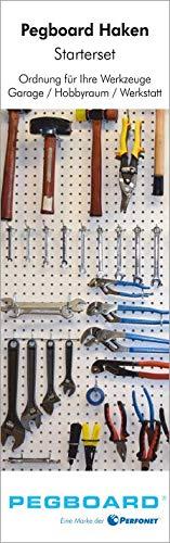 Pegboard®-Lochwand-Haken - für jede Anforderung den geeigneten Haken. 67-teiliges Hakenset für Rasterlochung 25,4 mm - 7