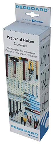 Pegboard®-Lochwand-Haken - für jede Anforderung den geeigneten Haken. 67-teiliges Hakenset für Rasterlochung 25,4 mm - 8
