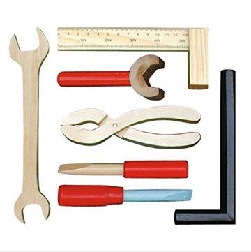roba Werkbank, grosse Spielwerkbank aus Holz, Meister-Werkbank mit umfangreichem Werkzeug Set, grosser Arbeitsplatte, Ablage u, 3 Schubfächern - 7