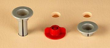 Theo Klein 8461 8461-Bosch Workshop mit extragroßer Arbeitsplatte Holzimitatation und viel Werkzeug, Spielzeug, Grün, Holzfarben - 5