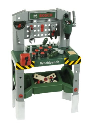 Theo Klein 8637 – Bosch Werkbank mit sound, adjustable height -