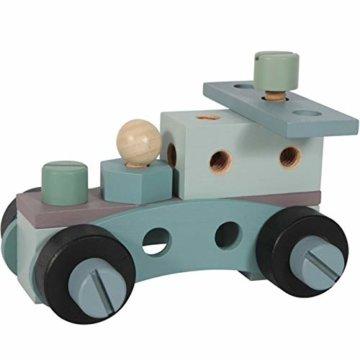 Tiamo Little Dutch 4448 Holz Spielwerkbank mit Werkzeuggürtel und Zubehör blau Mint 86x36x55 cm - 8