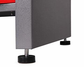 Ondis24 Montagewerkbank Werkstatteinrichtung Werkbank 120cm Werktisch rot mit 2 kugelgelagerten Schubladen & 2 abschließbaren Türen, TÜV geprüft - 6