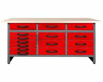 Ondis24 Werkbank 160 x 60 cm, 32mm Arbeitsplatte, Werktisch, Montagewerkbank max. 450kg belastbar, Werkstatt Packtisch (Arbeitshöhe 85 cm) - 1
