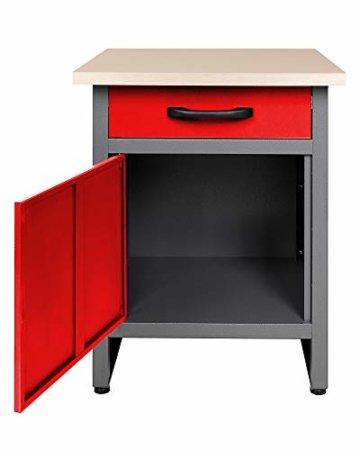 Ondis24 Werkstatt rot Werkstatteinrichtung 8 tlg. grau Werkbank Werkzeugschrank Lochwand - 4