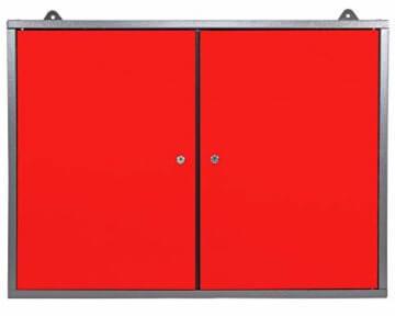 Ondis24 Werkstatt rot Werkstatteinrichtung 8 tlg. grau Werkbank Werkzeugschrank Lochwand - 8