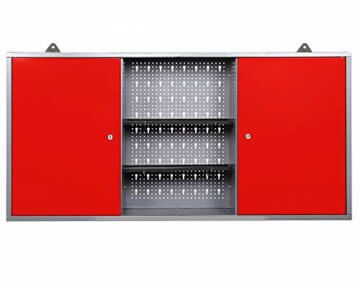 Ondis24 Werkstatt rot Werkstatteinrichtung 8 tlg. grau Werkbank Werkzeugschrank Lochwand - 9